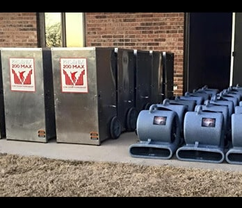 water damage rental equipment